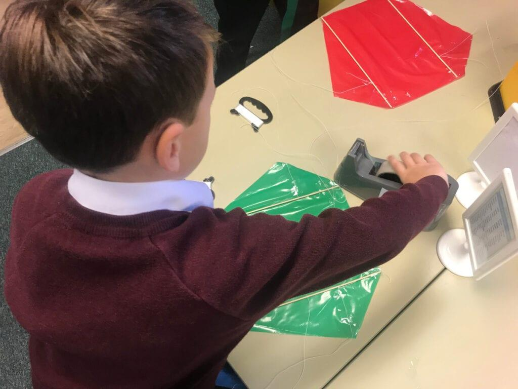 Kite making fun at Rookwood School, a private infant school