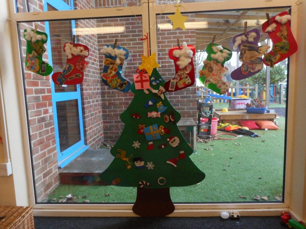 Little Rookwood pupils Christmas art creation, Andover.