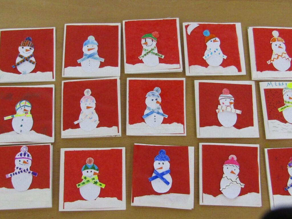Christmas cards for a local care home made by our private school pupils.